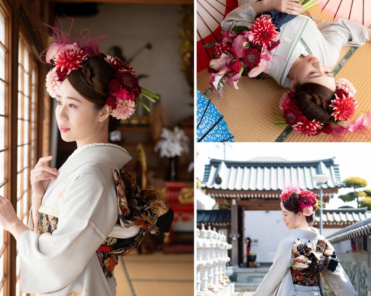 モデルとして参加したプロフィギュアスケーターの小川真理恵さん