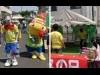 川越の商店街でキッズテニスイベント プロのコーチが無料レッスン