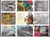川越いも膳呼友館で障がい者アート展 300点を超える作品展示