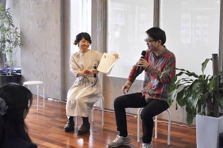 著者の菅野のなさんと、編集担当者によるトークライブ