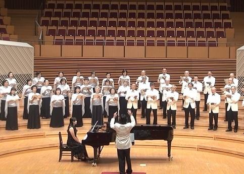 川崎市混声合唱団の演奏(昨年の様子)