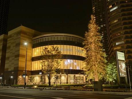 クリスマスのイルミネーションに彩られるグランツリー武蔵小杉