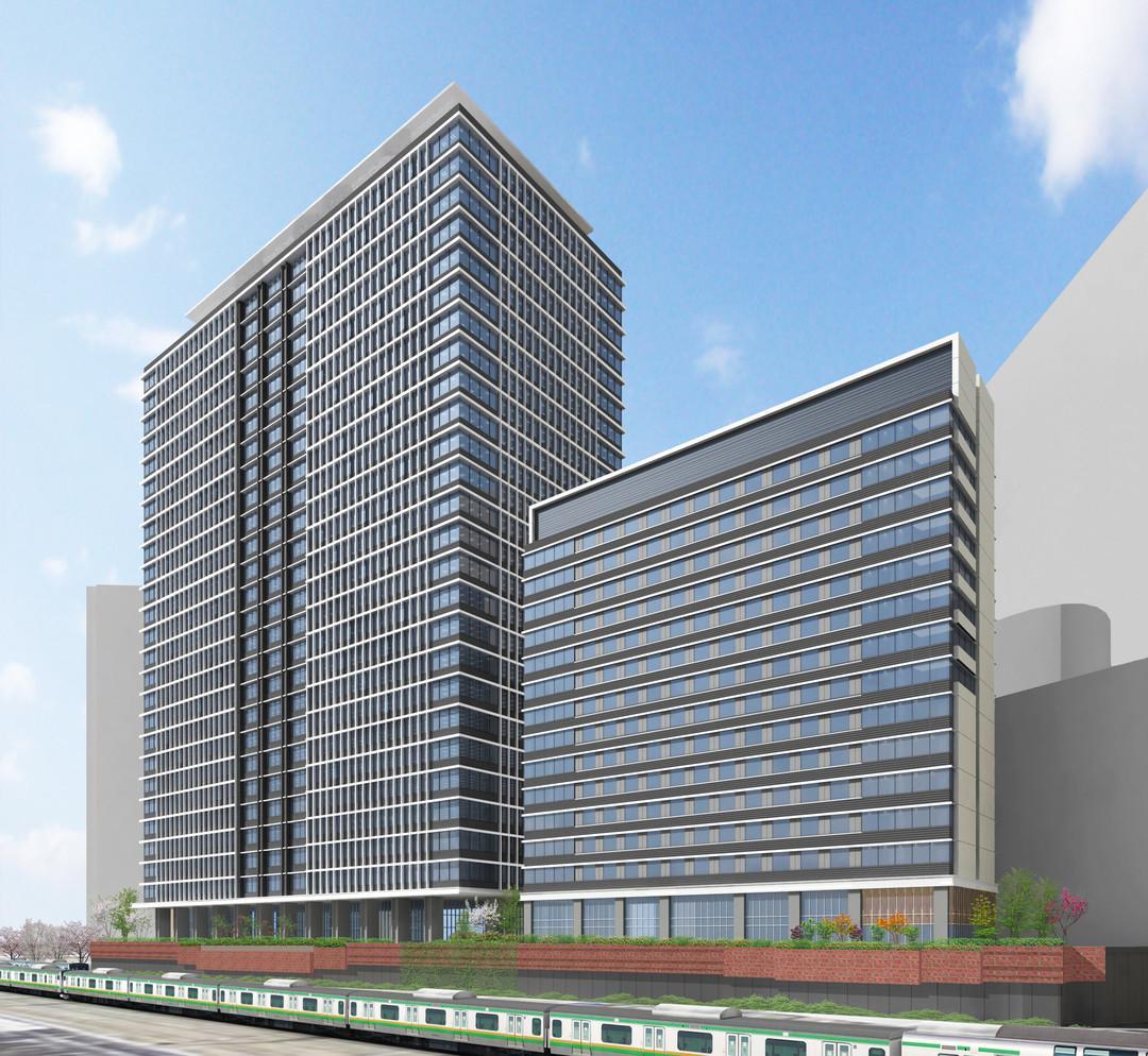 川崎駅西口エリアに建設予定