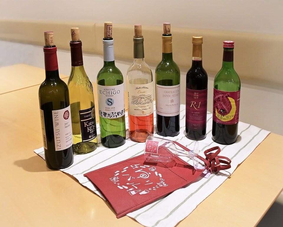 「ゆりバル」では日本で収穫されたブドウのみを使ったワインを楽しめる