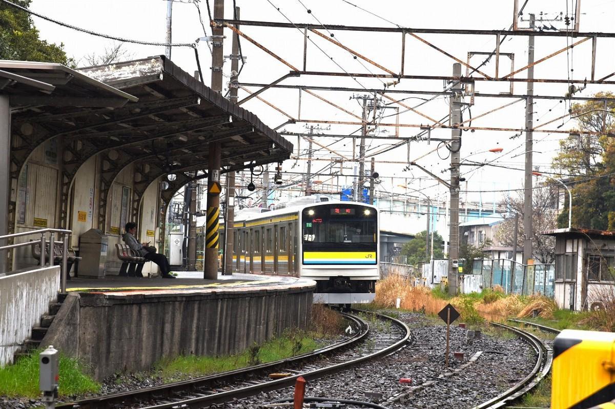元号が発表される前、平成31年3月26日に撮影した鶴見線「昭和駅」(撮影=加藤恵三)
