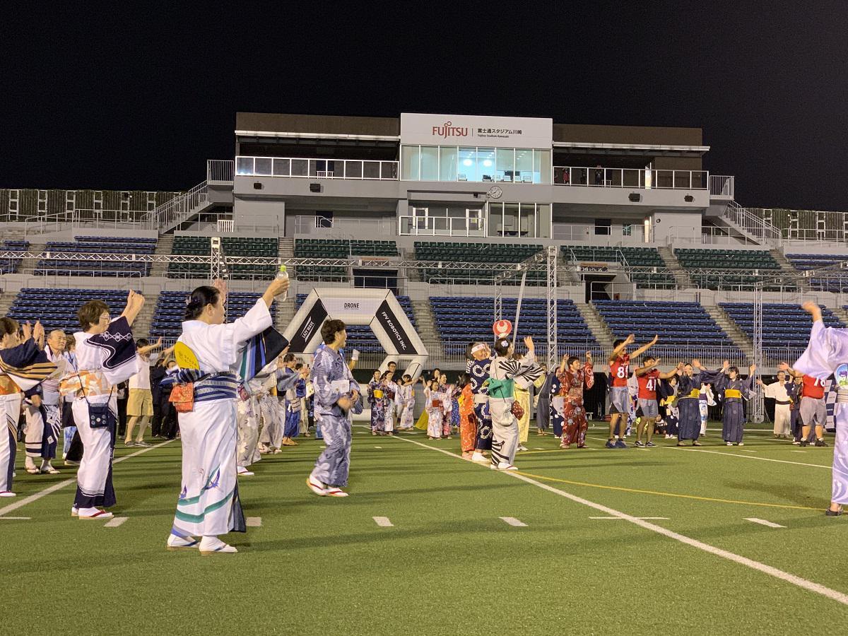 約1,500人超の参加者で盛り上がった盆踊り