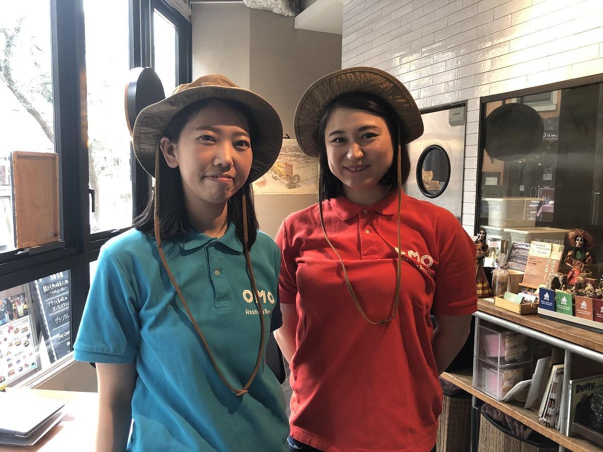 「OMOレンジャー」の大川朝子さんと山口美咲さん