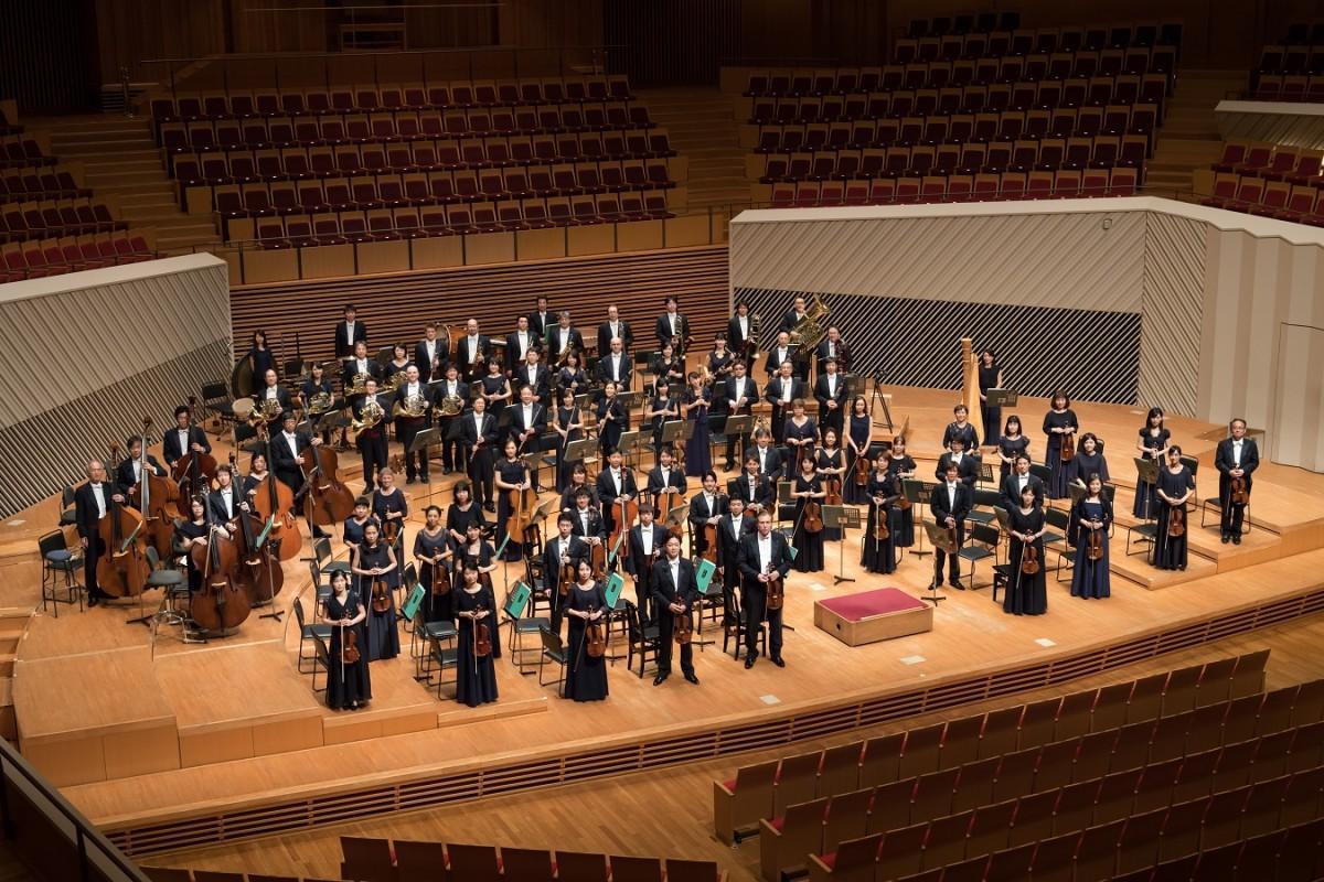 初のミューザでの無観客ライブに臨む東京交響楽団(©N.ikegami)