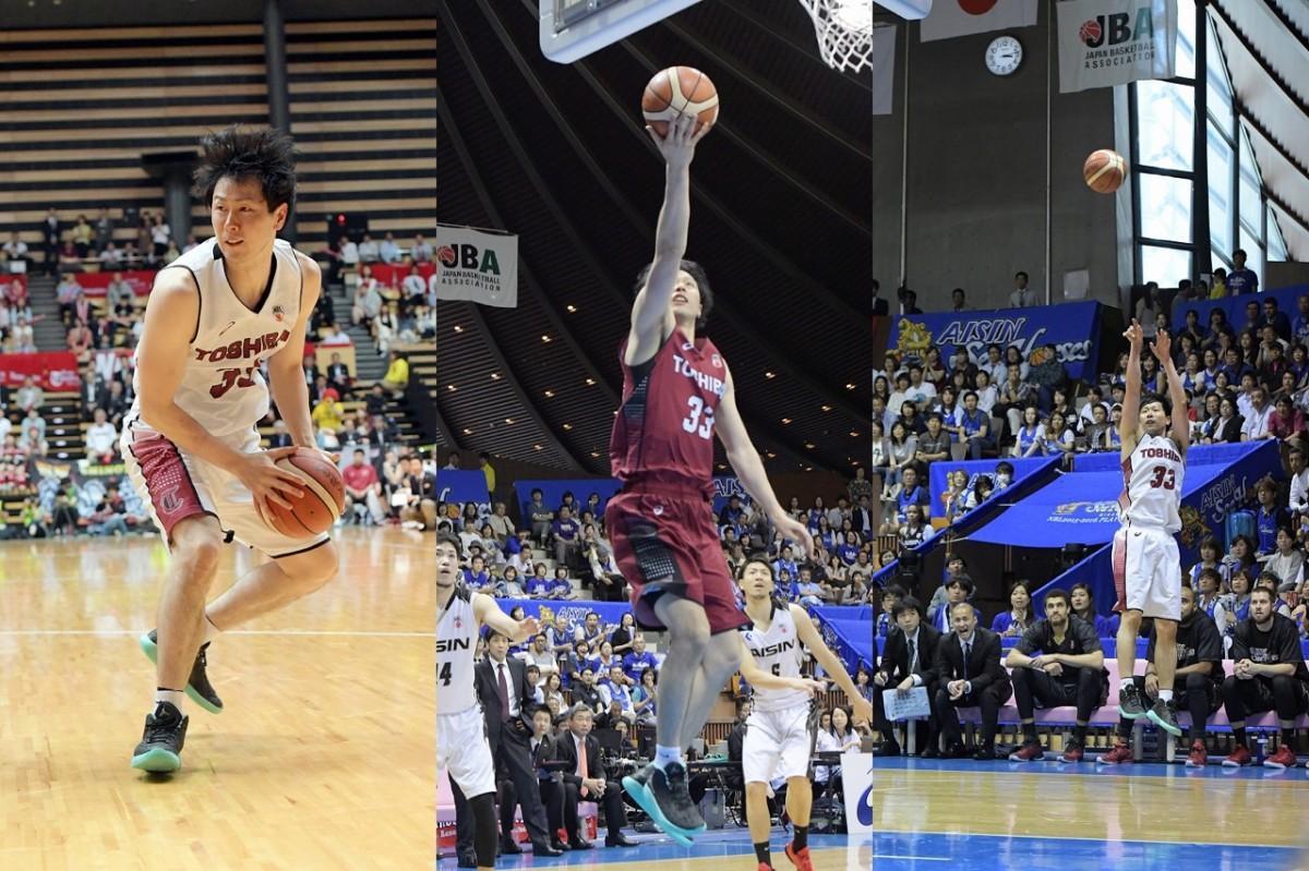 「NBL2015-2016シーズンファイナル」で活躍する長谷川技選手。(左から)第3戦、第4戦、第5戦(撮影=加藤恵三)