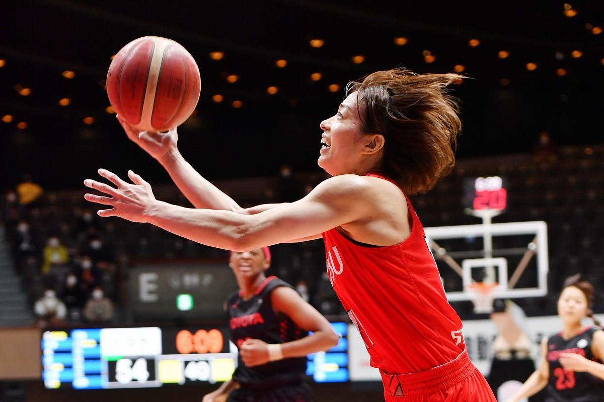 3x3バスケットボール女子日本代表エントリーメンバーに選ばれた富士通レッドウェーブ・篠崎澪選手(撮影=加藤恵三)