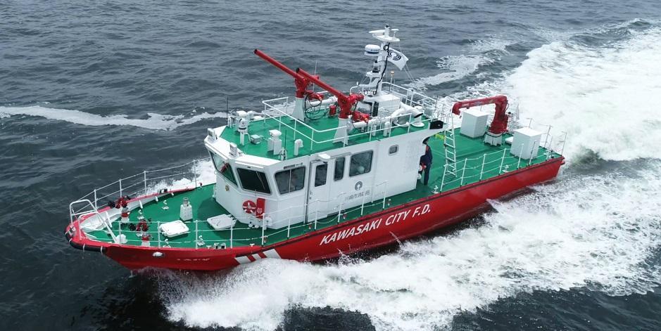 川崎市消防局の新小型消防艇「うみかぜ」の運用が6月1日より始まった(写真提供=川崎市消防局)
