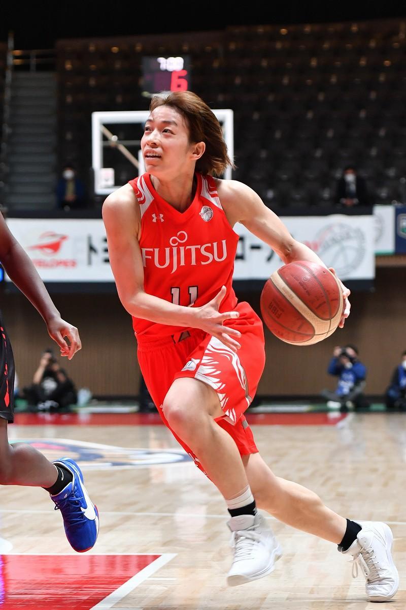 Wリーグで活躍する篠崎澪選手(撮影=加藤恵三)