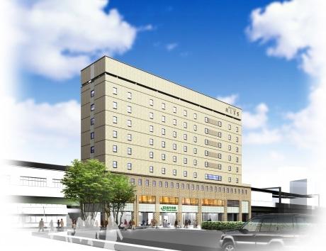 3月6日にオープンする「ホテルメッツ高円寺」の外観予想図