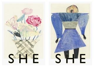 安藤晶子さんの個展「SHE」