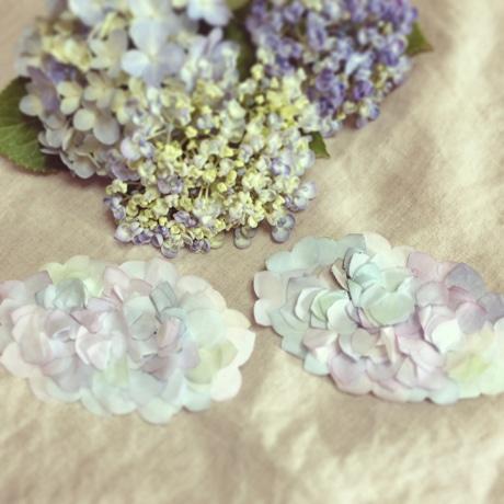「Pen.m[ペン・エム]」の紫陽花のアクセサリーシリーズ
