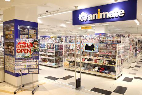吉祥寺パルコの7階に移転リニューアルした「アニメイト」店内
