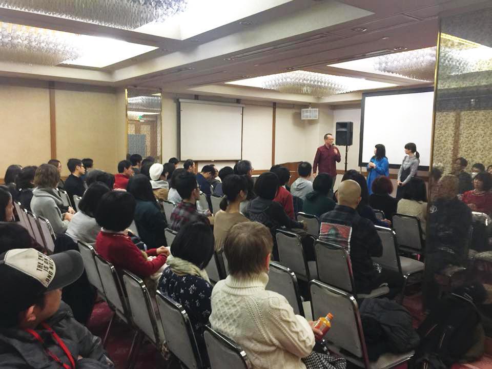 「三鷹連雀映画祭」で初日に上映が行われた「三鷹シティホテル」会場内の様子