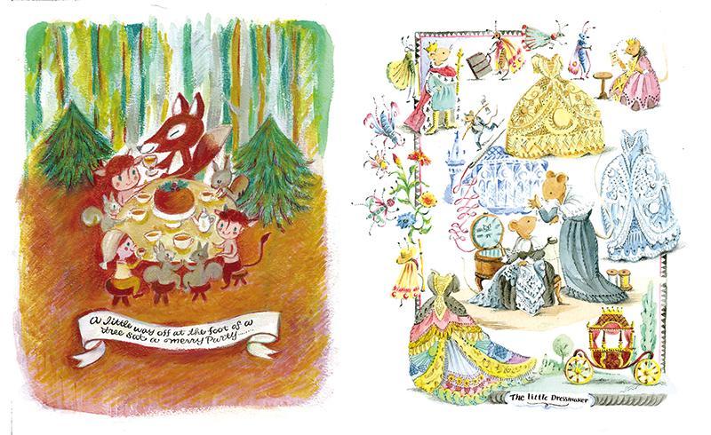 「ナルニア国物語」を題材にした山田詩子さんの作品(左)と山田康平さんの「小さい仕立屋さん」(右)
