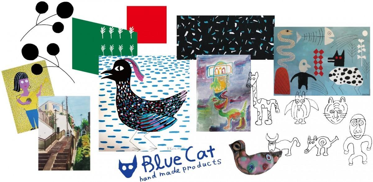 「Blue Cat hand made products」「カフェ・ゼノン」でアート作品の展示会を開催
