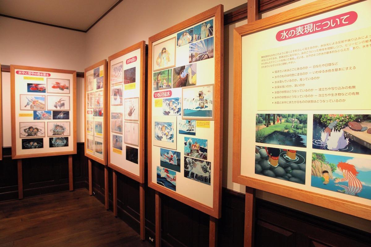 「映画を塗る仕事」展示の様子 ©Museo d'Arte Ghibli ©Studio Ghibli