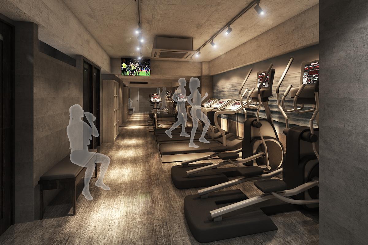 「勉強カフェ 吉祥寺スタジオ」4階に併設したジム「&workout」(イメージ)