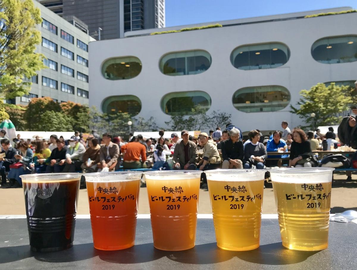 前回行った「中央線ビールフェスティバル」の様子