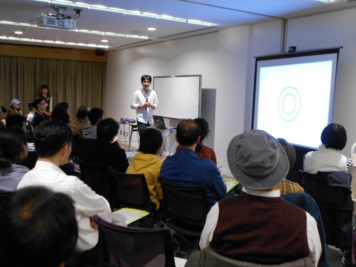 吉祥寺図書館で行われた森田真生さんのトークライブの時の様子