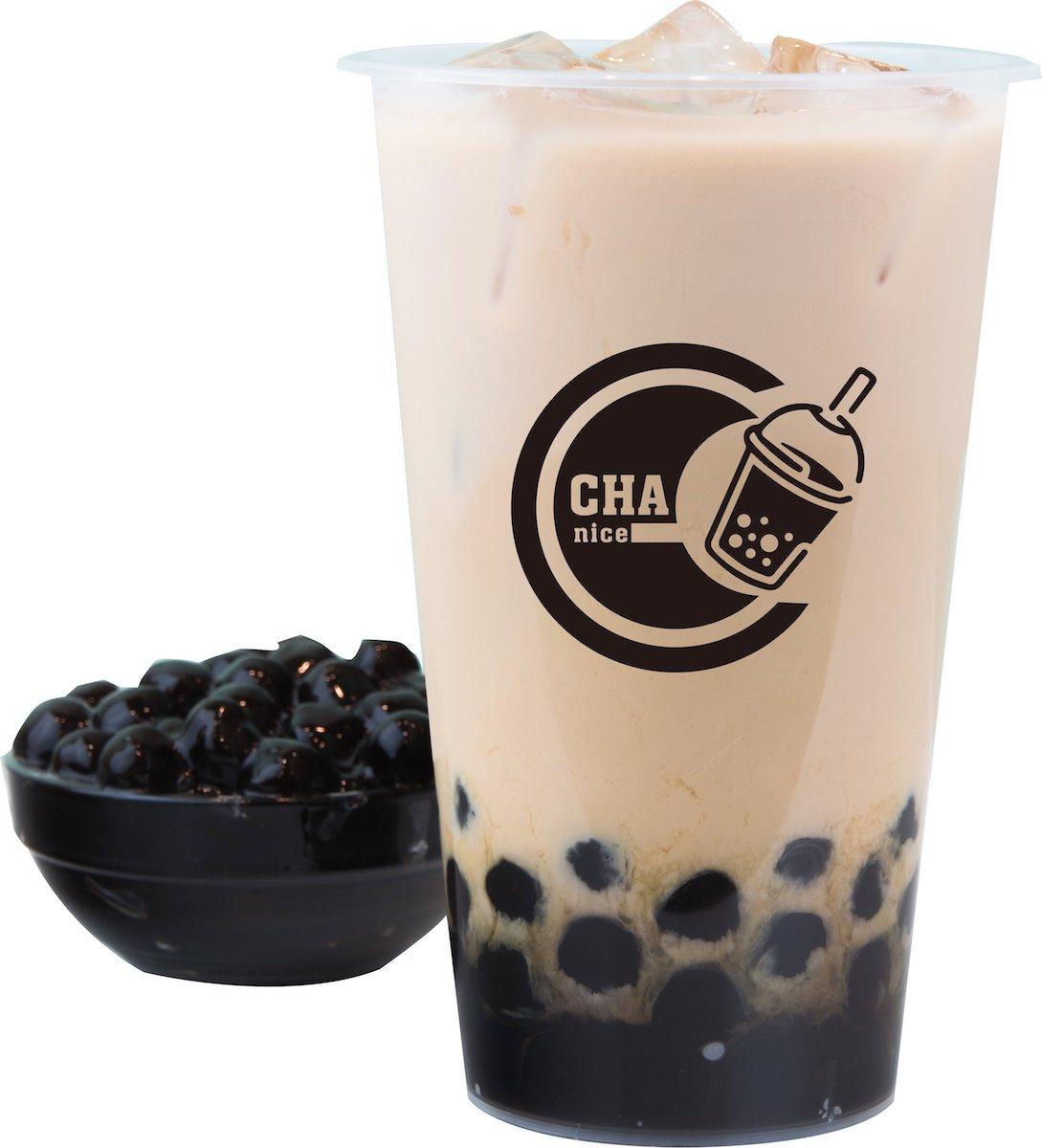 三鷹の「CHA nice(チャナイス)」で提供する「伯爵紅茶タピオカミルクティー」