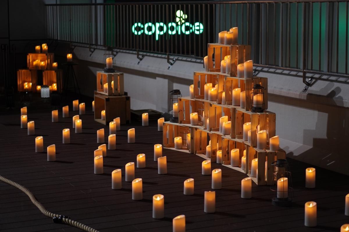 「コピス吉祥寺」で開催している「グリーニング キャンドルナイト」の様子