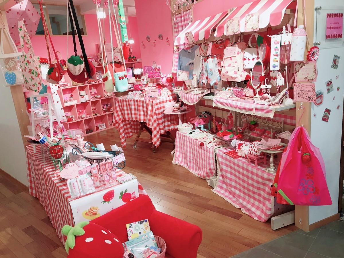 「イチゴの百貨店」をコンセプトとした「STRAWBERRY BOX」店内の様子