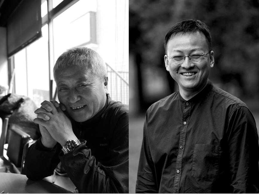 「SkiiMa Talk」に登壇する手塚一郎さん(左)、舟木公一郎さん(右)