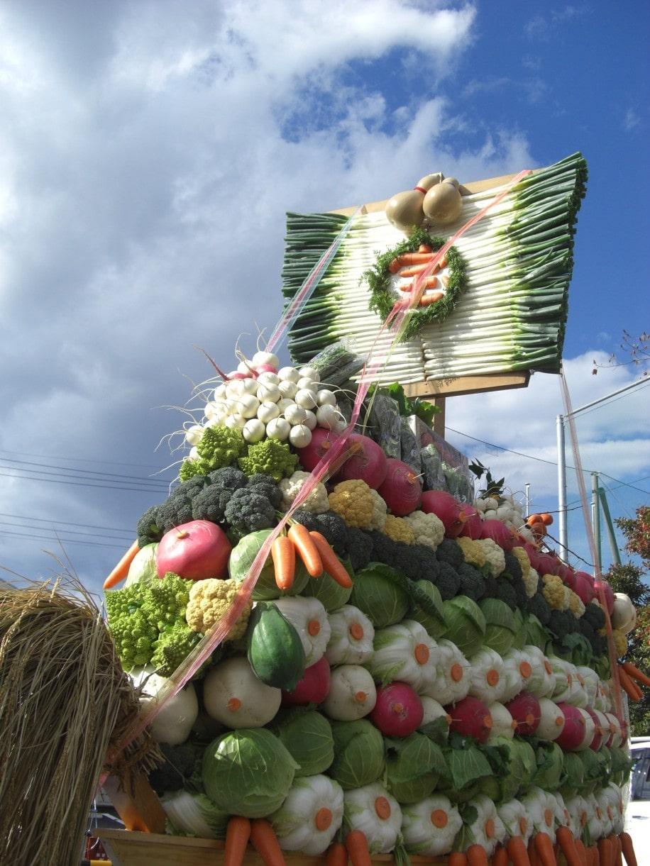 昨年の「清瀬農業まつり」の野菜宝船