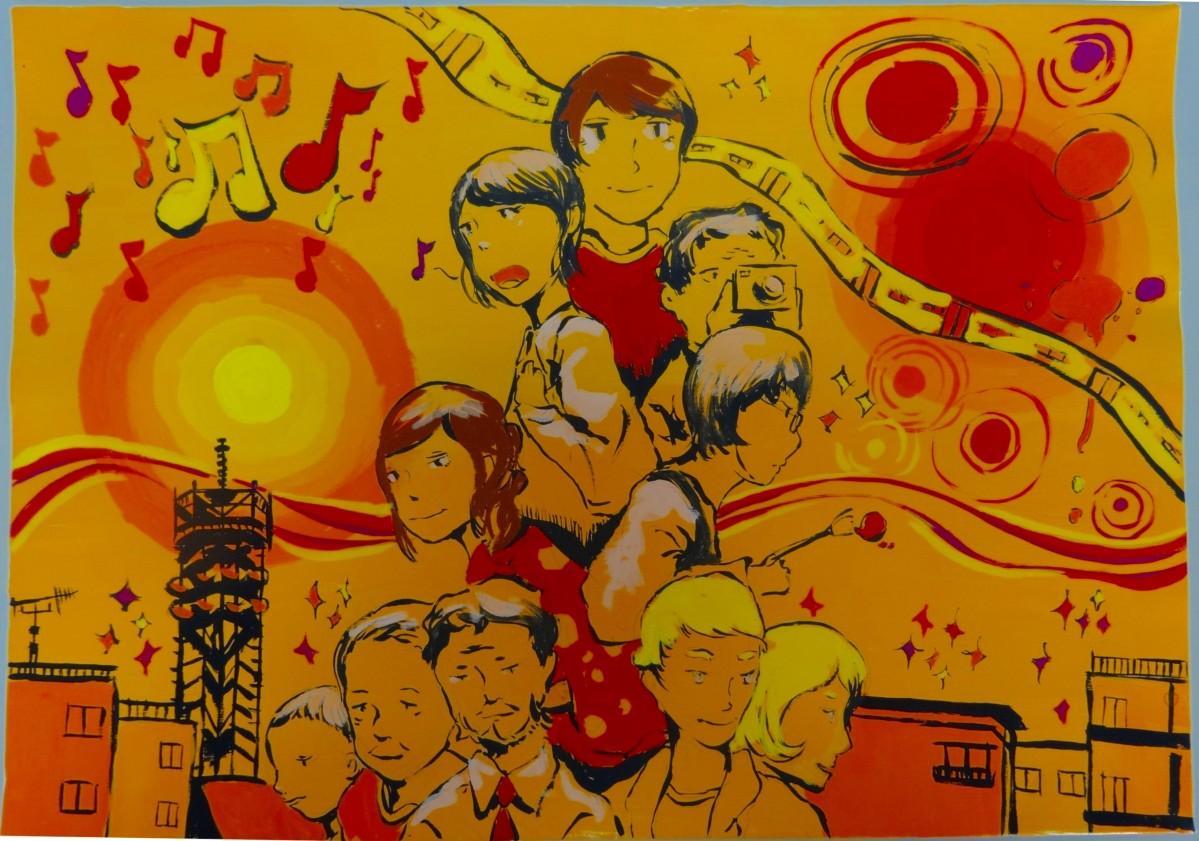 昨年度の最優秀賞 「楽しげな文化祭」石添 輝(いしぞえ ひかる)さんの作品