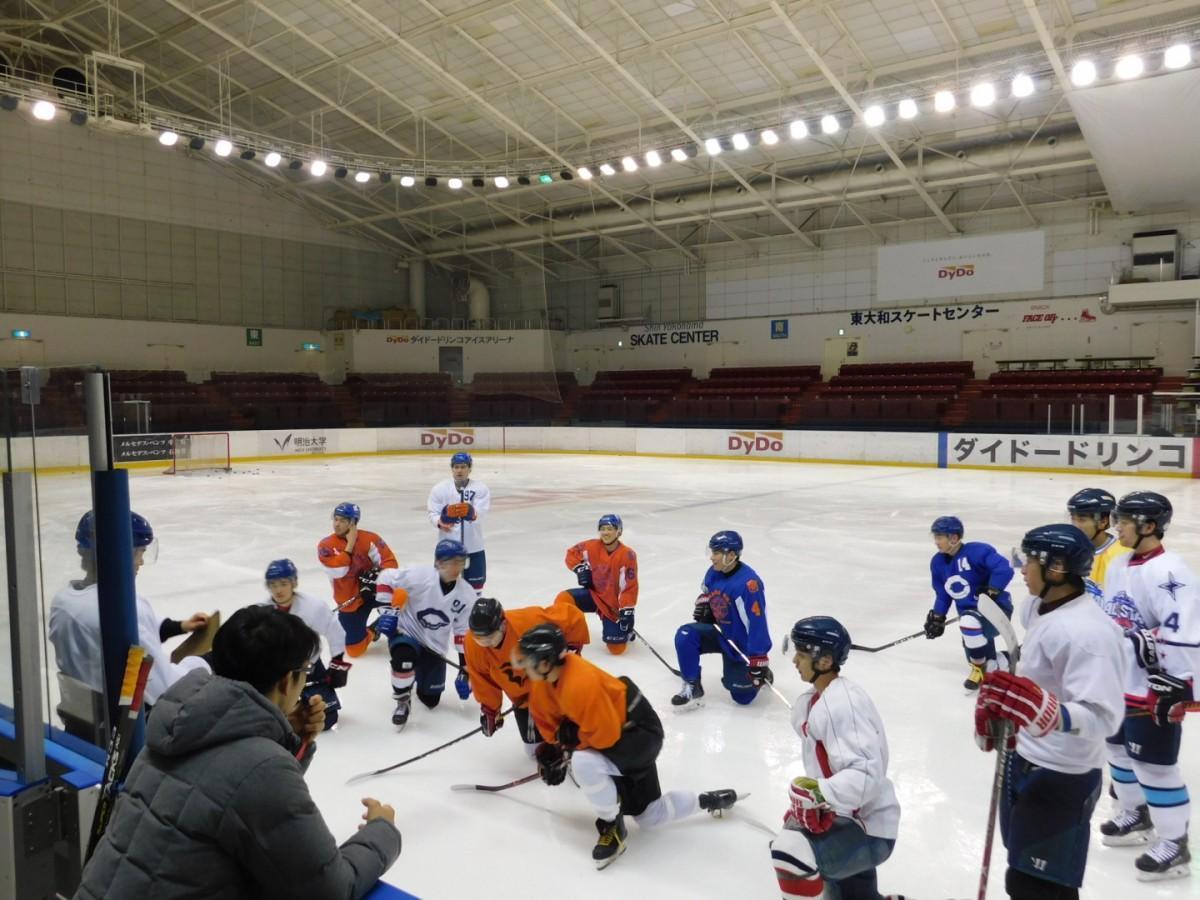 試合前の3日間(12日~14日)、試合会場での氷上練習を公開する