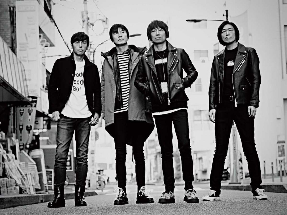 4人組ロックバンドJUN SKY WALKER(S)。西東京市で結成し昨年デビュー30周年を迎えた(写真提供=ドリーミュージック)