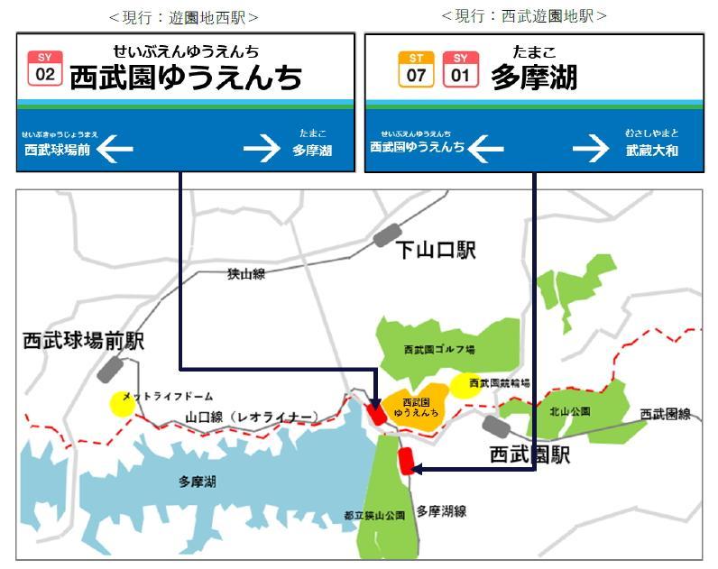 駅名変更後のイメージ(西武鉄道提供)