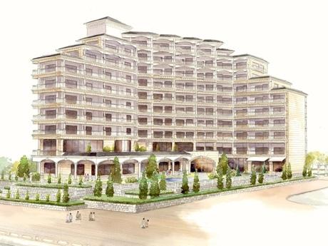 ホテル ラ・スイート神戸ハーバーランドの完成予想図(外観)