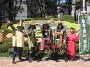 仙台城から「伊達武将隊」が神戸へ出陣-お礼の全国キャラバン展開