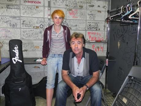 グレン・マトロックさんと息子・ルイさん(14)