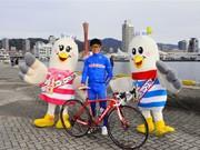 神戸ハーバーランドで「むぃむぃサイクリング」-プロロードレーサーも走行