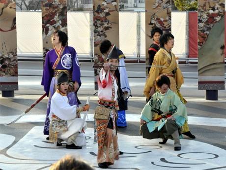 最後の演舞を披露する「神戸・清盛隊」(平清盛、重盛、宗盛、知盛、重衡、敦盛、GION)