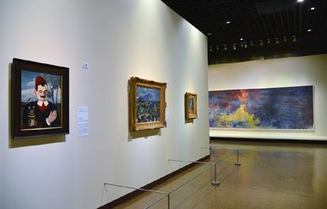 神戸市立博物館で開催されている「チューリヒ美術館展」の様子
