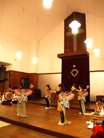 雅楽演奏会「日本の音楽『雅楽』演奏会~祈り~」リハーサルの様子