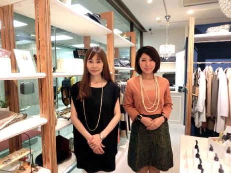 「BELLE DE FEMME(ベルデファム)」プロデューサーの山本久実子さん(左)と店長の奥村容子さん(右)
