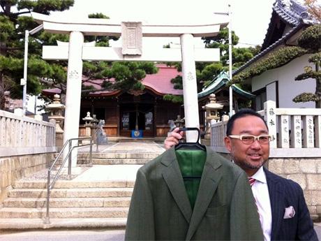 オーダースーツ店「BIGMAN(ビッグマン)」と舞子六神社がコラボスーツ