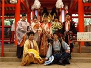 生田神社で「神戸・清盛隊」演舞奉納 結成5周年の意気込み語る