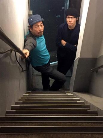 「音楽室:フォノテーク」の安井麻人さん(右)と「スペースドッグ!レコード」の河原タクさん(左)