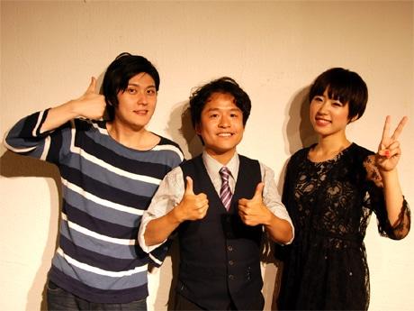 左から、俳優の宮前侑平さん、中川信雄監督、女優の樹谷奈央子さん