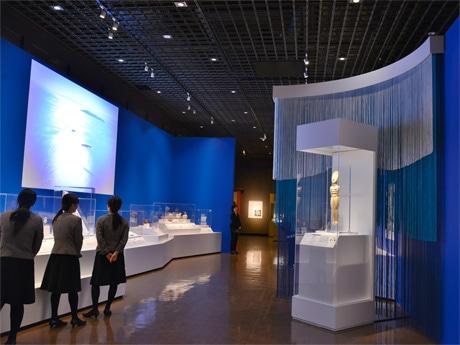 神戸市立博物館で開催されている「古代ギリシャ-時空を超えた旅-」の様子