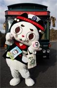 神戸の周遊路線バスキャラクター「ループにゃん」 グッズ販売開始
